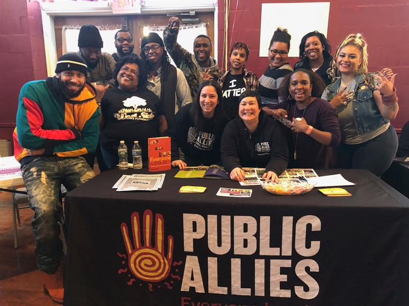 A group of Public Allies Delaware alumni at an MLK Day celebration