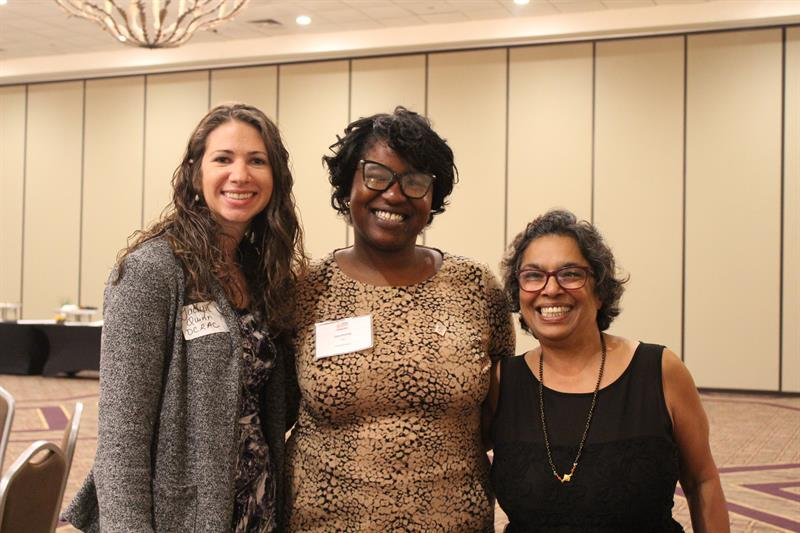 Left to right: Jaclyn Quinn, Public Ally Jasmine Lilly, and Rashmi Rangan from DCRAC
