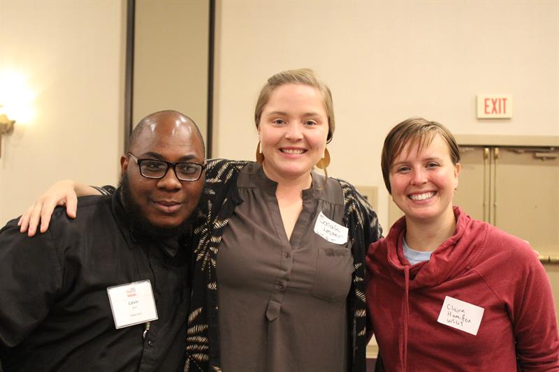 From left to right: Public Ally CJ Bland, Sarah Lester, and Claire Hamilton from West Side Grows Together