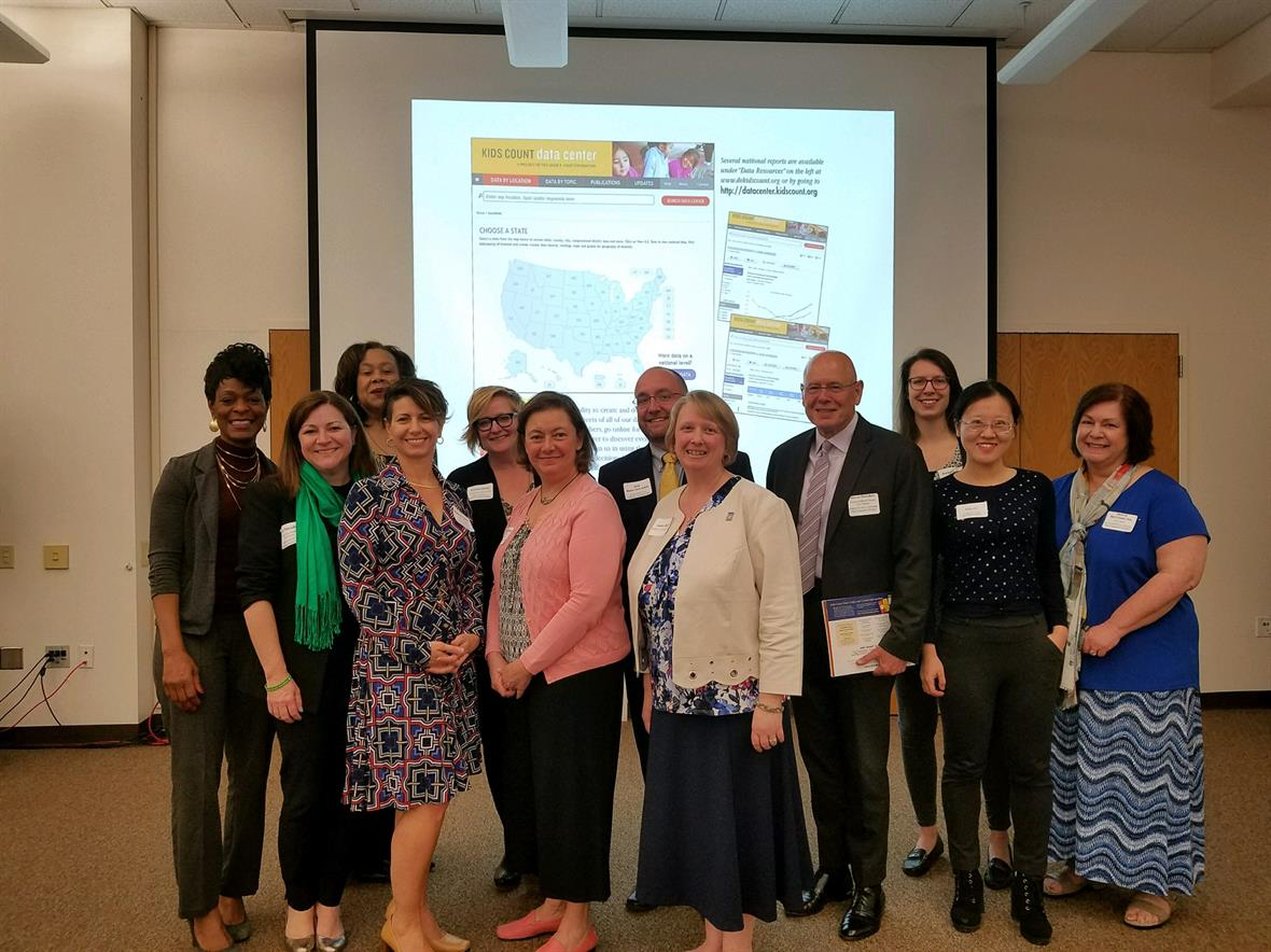 KIDS COUNT in Delaware Board & Data Committee Members at 2018 fact book release event