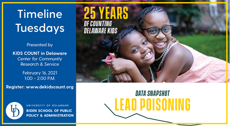 Timeline Tuesdays Data Snapshot: Lead Poisoning with photo of two girls hugging
