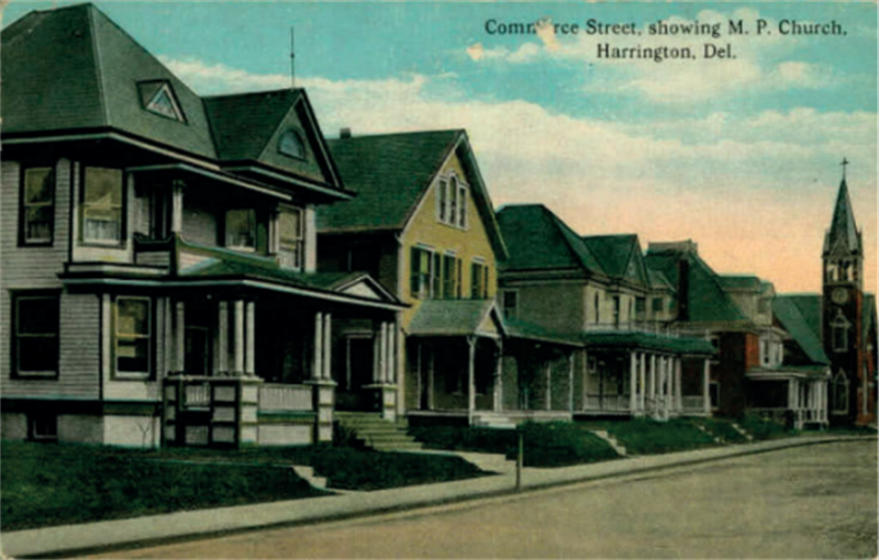 Queen Anne dwellings on Commerce St
