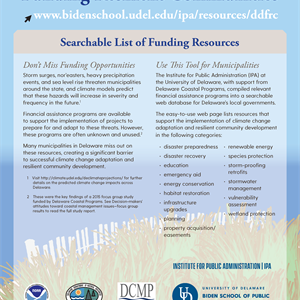Guide for using the online database for identifiying funding assistance for community resiliency projects