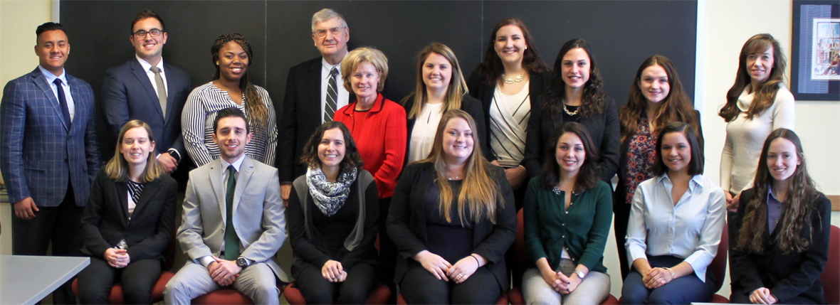 The 14 Legislative Fellows met with UD's interim provost, the director of the Institute for Public Administration, and the Legislative Fellows program manager for orientation.