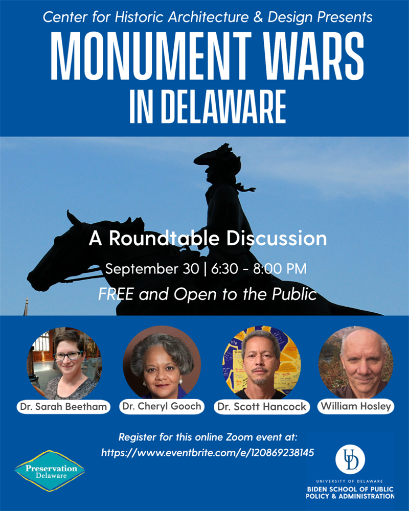 event flyer for Monument Wars