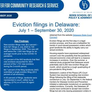 New Eviction Filings in Delaware after Moratorium