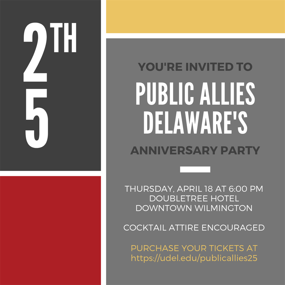 Public Allies Delaware celebrates 25 years and one Million hours of service to Delaware!