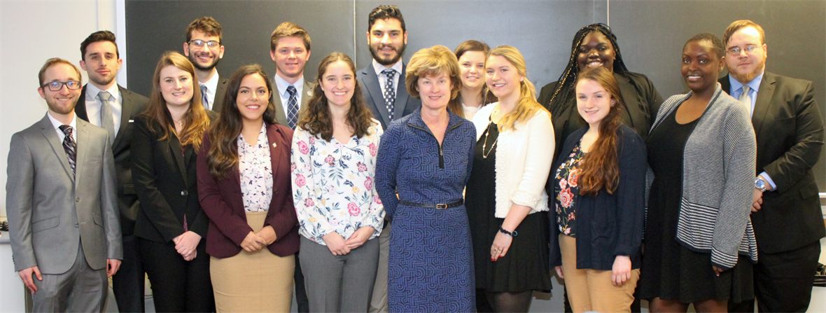 Provost Morgan meets with the 2019 Legislative Fellows during their comprehensive orientation program.