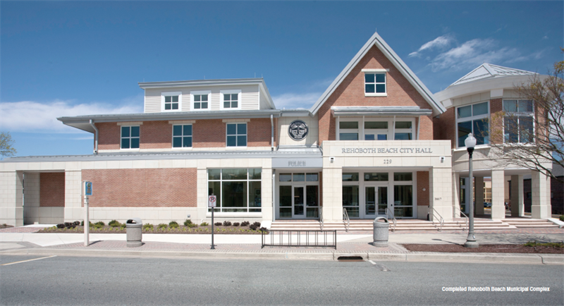 The completed Rehoboth Beach Municipal Complex (Courtesy APWA Reporter)